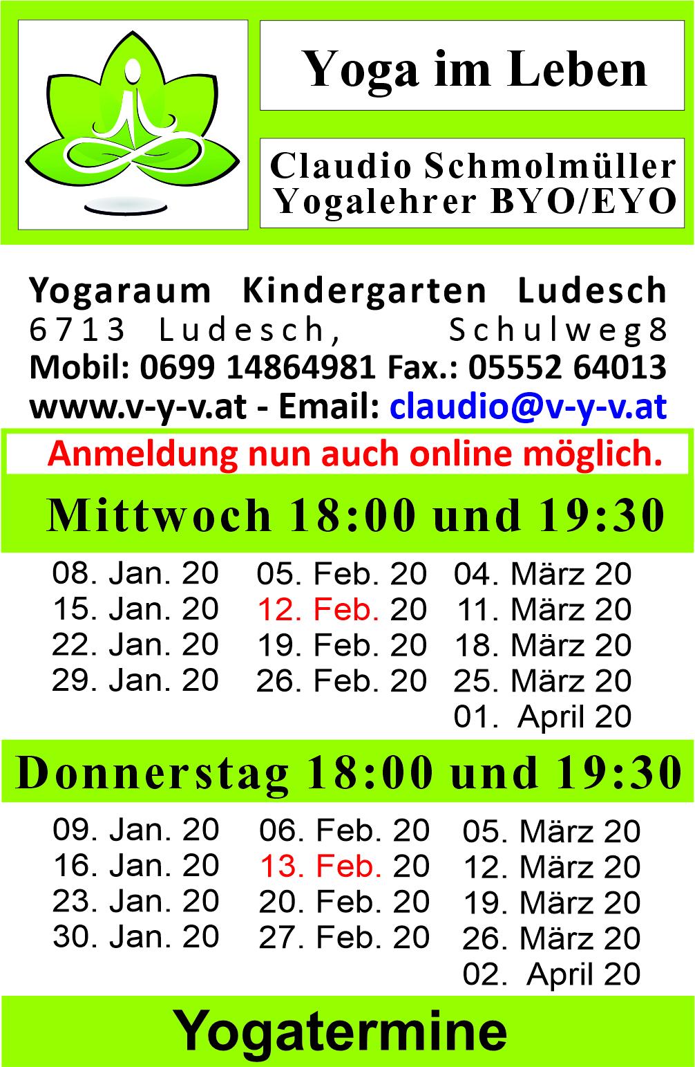 Kurse In Ludesch Vini Yoga Vorarlberg